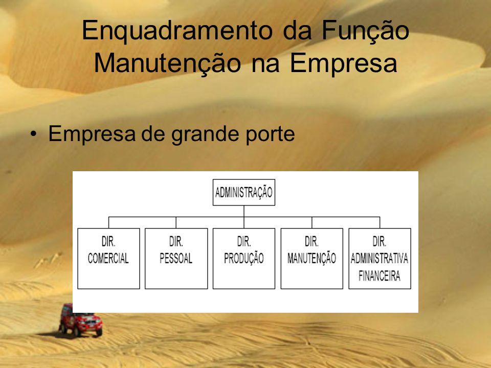 Enquadramento da Função Manutenção na Empresa Empresa de grande porte