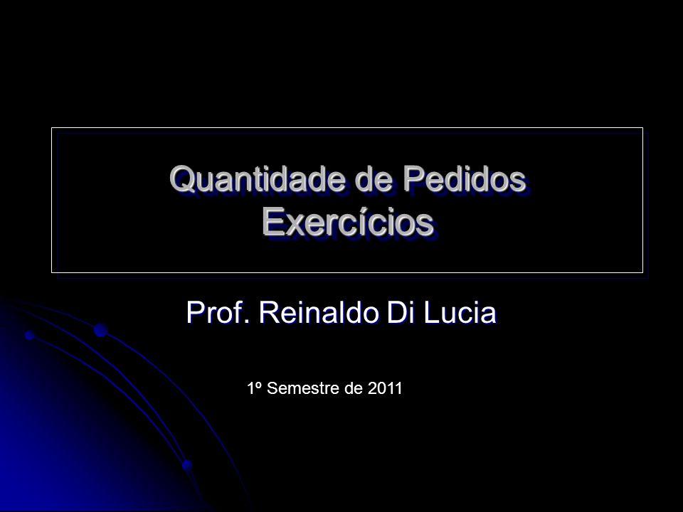 Quantidade de Pedidos Exercícios Prof. Reinaldo Di Lucia 1º Semestre de 2011