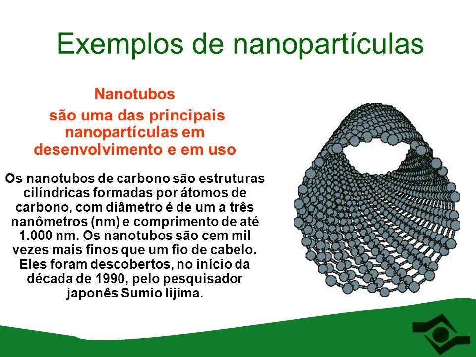 Nanotubos são uma das principais nanopartículas em desenvolvimento e em uso Os nanotubos de carbono são estruturas cilíndricas formadas por átomos de