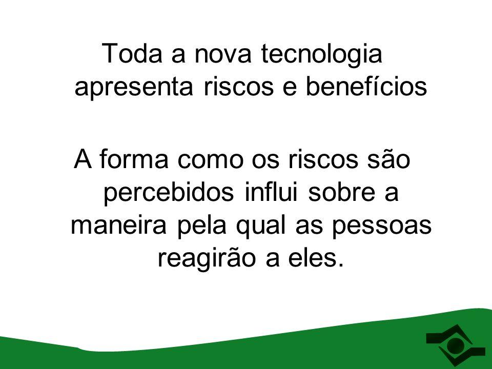 Trabalhadores Meio ambiente Usuários (consumidores) NANOTECNOLOGIA Produção Transporte Produção Transporte Uso (consumo) Manutenção Descarte (reciclagem) Uso (consumo) Manutenção