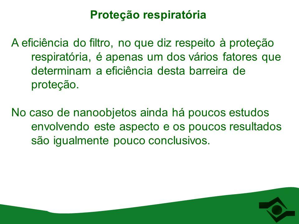 Proteção respiratória A eficiência do filtro, no que diz respeito à proteção respiratória, é apenas um dos vários fatores que determinam a eficiência