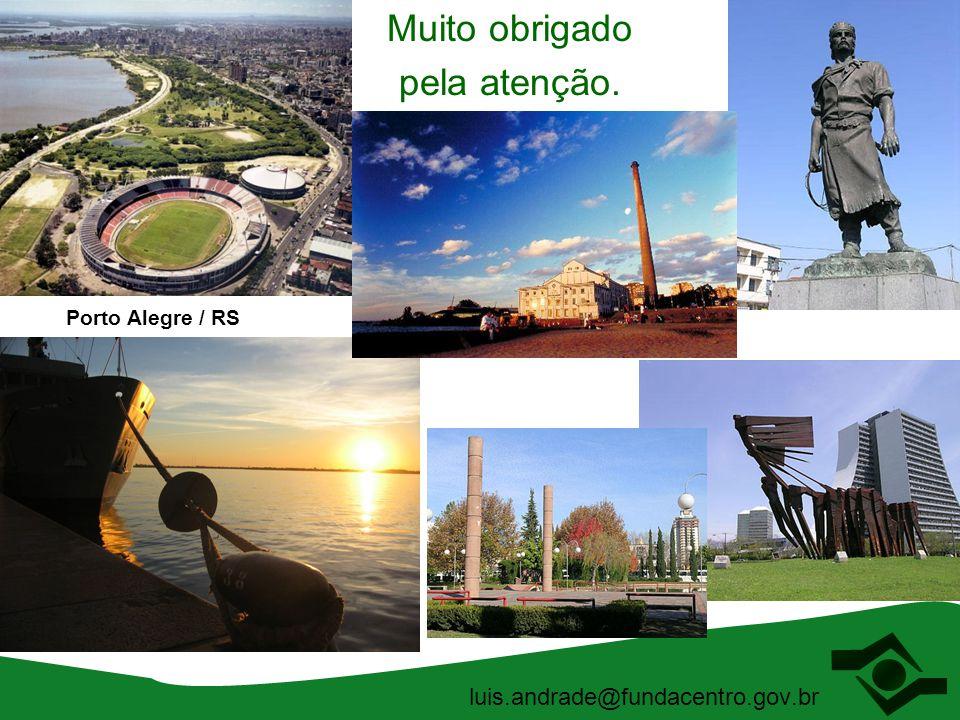 Muito obrigado pela atenção. luis.andrade@fundacentro.gov.br Porto Alegre / RS
