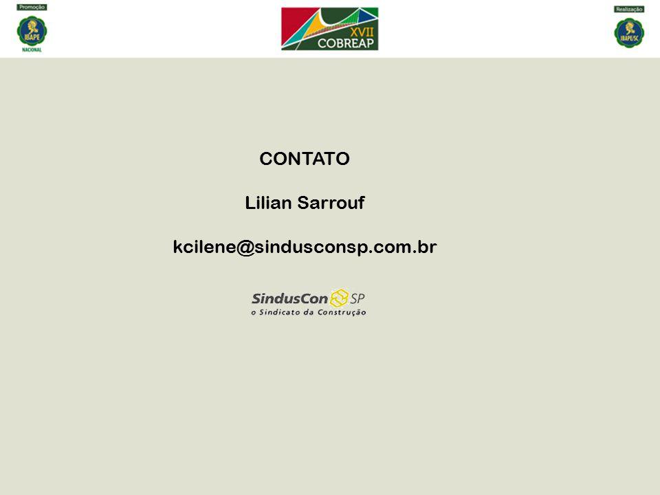 CONTATO Lilian Sarrouf kcilene@sindusconsp.com.br
