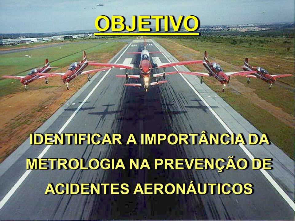 ROTEIRO MISSÃO DO CENIPA FILOSOFIA DA PREVENÇÃO A METROLOGIA E A PREVENÇÃO A METROLOGIA NOS ACIDENTES