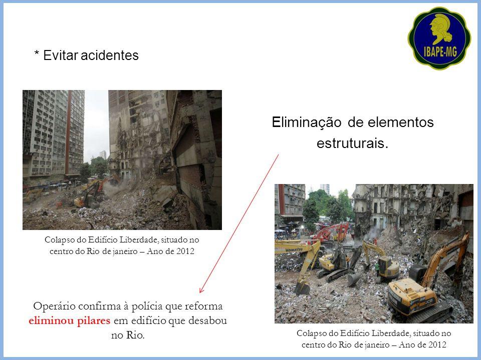 Operário confirma à polícia que reforma eliminou pilares em edifício que desabou no Rio. Colapso do Edifício Liberdade, situado no centro do Rio de ja