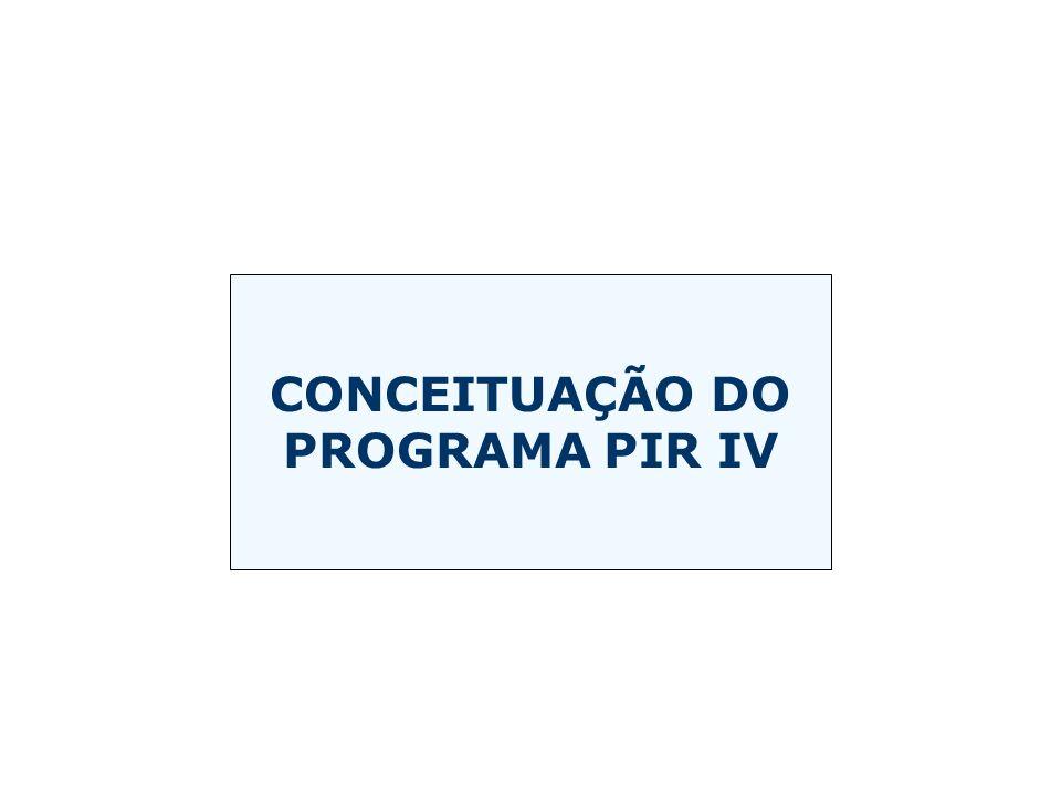 CONCEITUAÇÃO DO PROGRAMA PIR IV