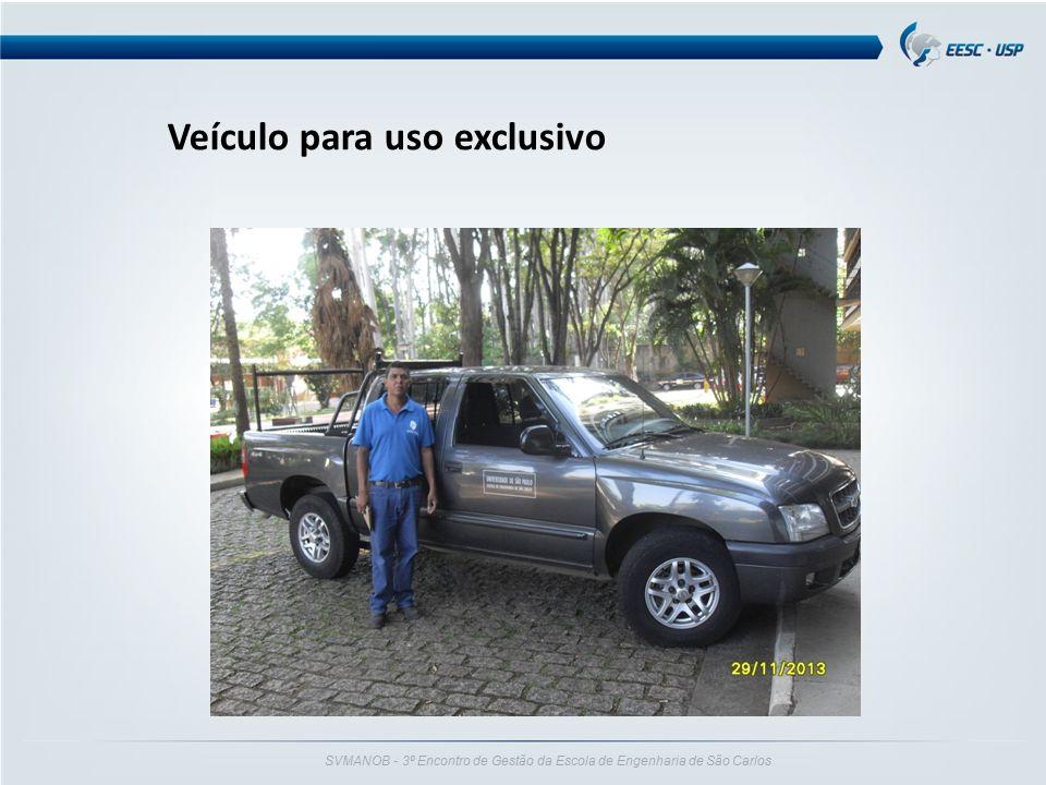 SVMANOB - 3º Encontro de Gestão da Escola de Engenharia de São Carlos Veículo para uso exclusivo