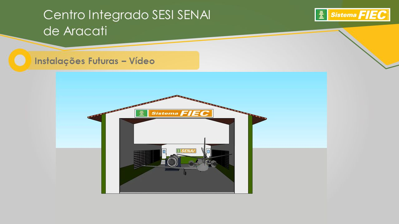 Instalações Futuras – Vídeo Centro Integrado SESI SENAI de Aracati