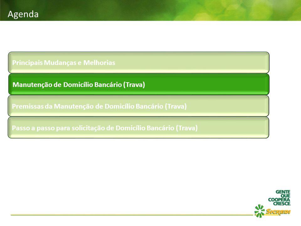 Passo a passo para a Manutenção de Domicílio Bancário TRAVA DO TIPO RAIZ DE CNPJ: Ao selecionar este tipo de trava, o sistema fará uma requisição à CIP, para a raiz de CNPJ informada.