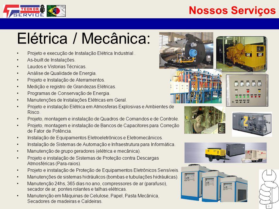 Projeto e execução de Instalação Elétrica Industrial.