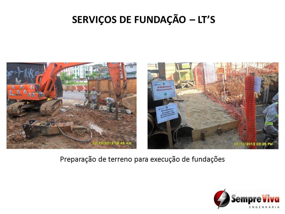 SERVIÇOS DE FUNDAÇÃO – LT'S Preparação de terreno para execução de fundações