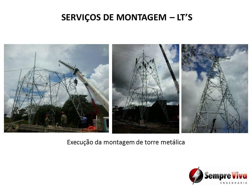 SERVIÇOS DE MONTAGEM – LT'S Execução da montagem de torre metálica