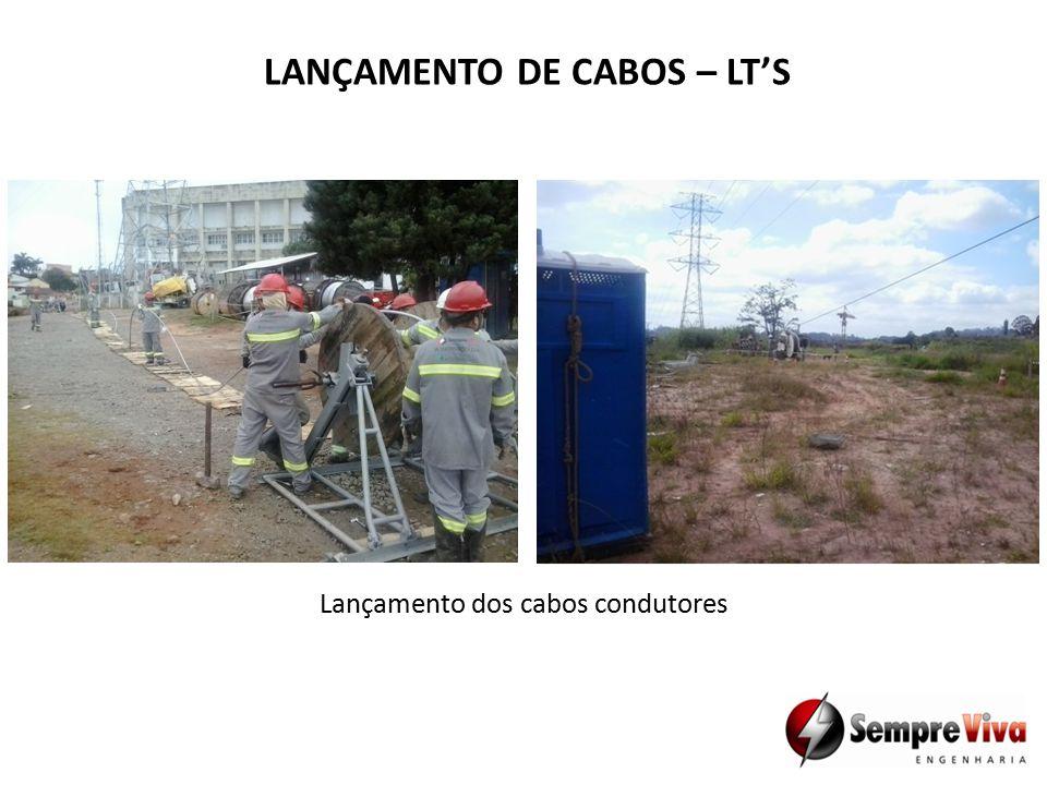 LANÇAMENTO DE CABOS – LT'S Lançamento dos cabos condutores