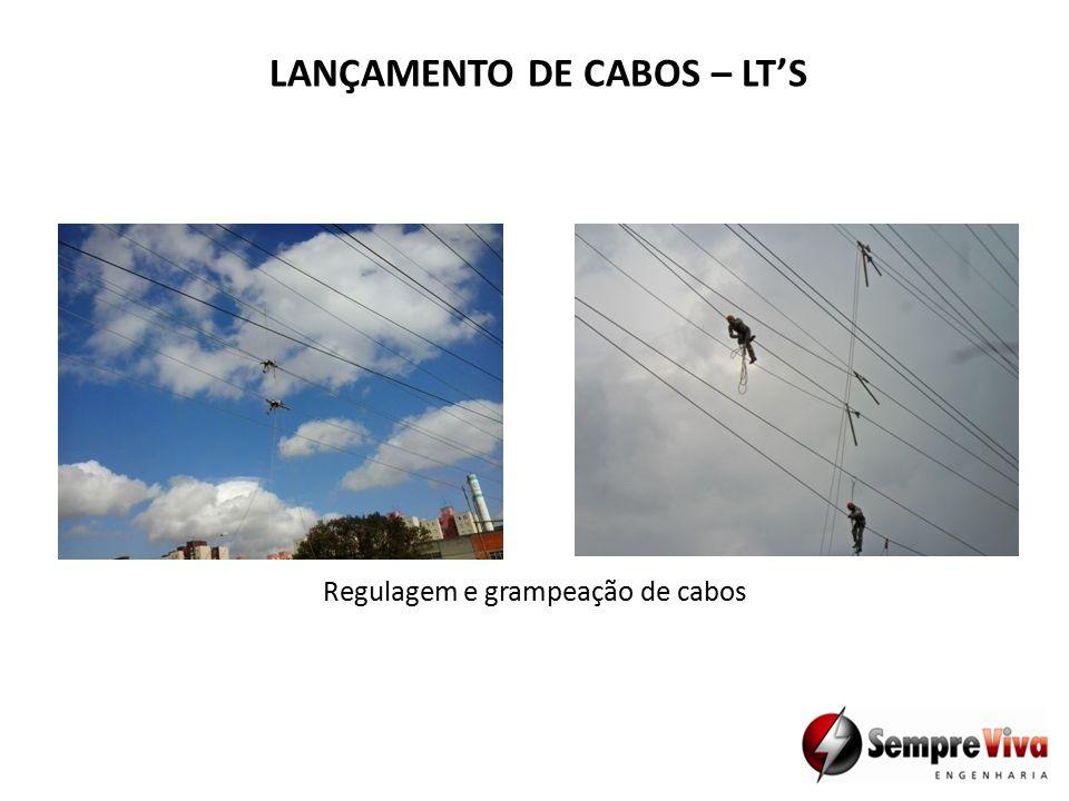 Regulagem e grampeação de cabos LANÇAMENTO DE CABOS – LT'S