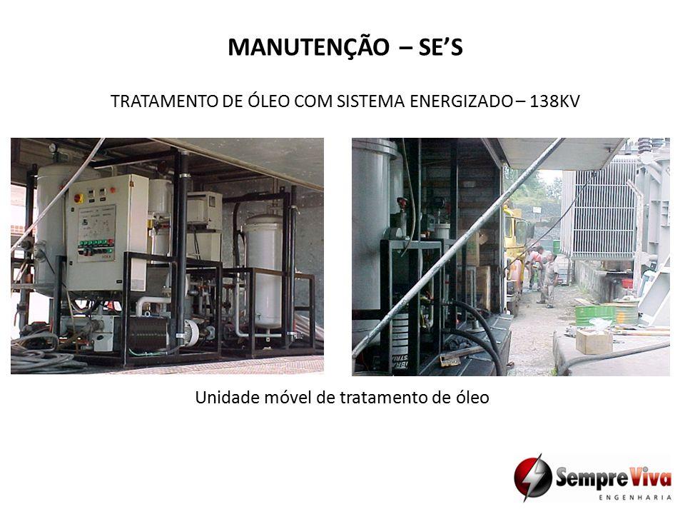 Unidade móvel de tratamento de óleo TRATAMENTO DE ÓLEO COM SISTEMA ENERGIZADO – 138KV