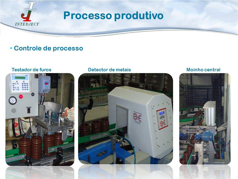 Processo produtivo Controle de processo Testador de furosDetector de metaisMoinho central