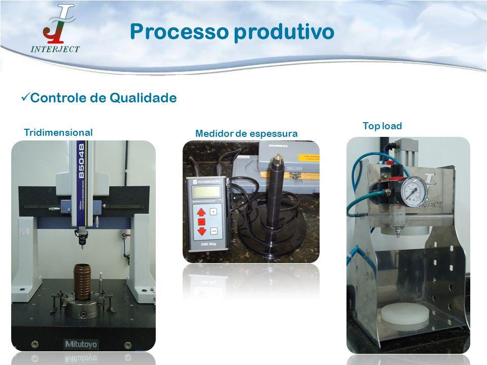 Processo produtivo Controle de Qualidade Tridimensional Medidor de espessura Top load