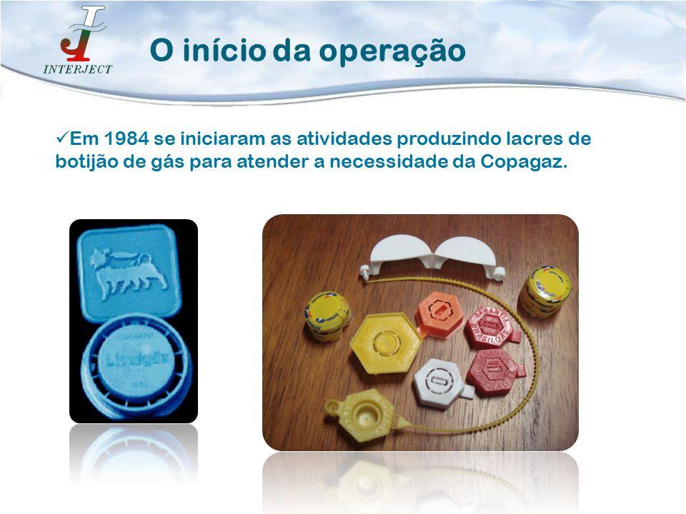 Em 1984 se iniciaram as atividades produzindo lacres de botijão de gás para atender a necessidade da Copagaz. O início da operação