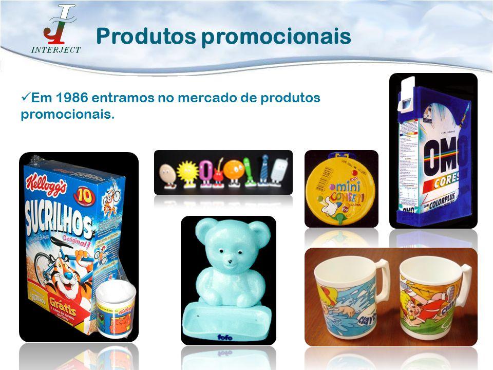 Em 1986 entramos no mercado de produtos promocionais. Produtos promocionais