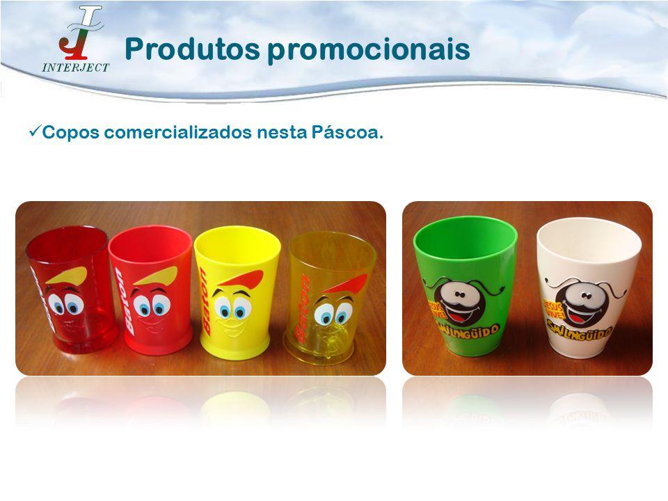 Copos comercializados nesta Páscoa. Produtos promocionais