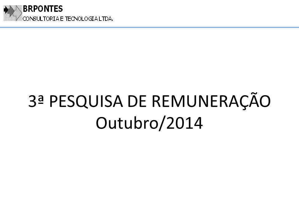 3ª PESQUISA DE REMUNERAÇÃO Outubro/2014