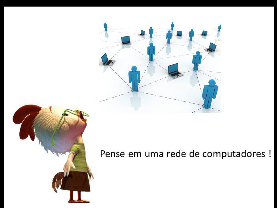 Pense em uma rede de computadores !