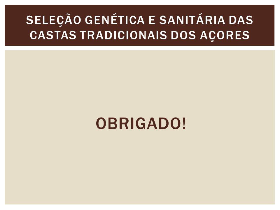 OBRIGADO! SELEÇÃO GENÉTICA E SANITÁRIA DAS CASTAS TRADICIONAIS DOS AÇORES
