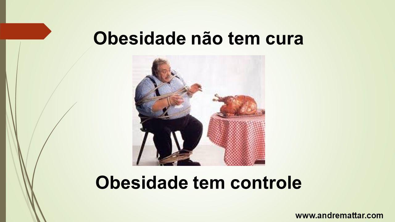 Obesidade não tem cura Obesidade tem controle www.andremattar.com
