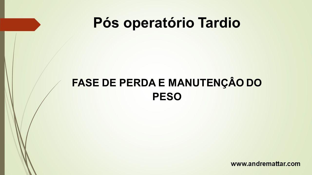 Pós operatório Tardio FASE DE PERDA E MANUTENÇÂO DO PESO www.andremattar.com