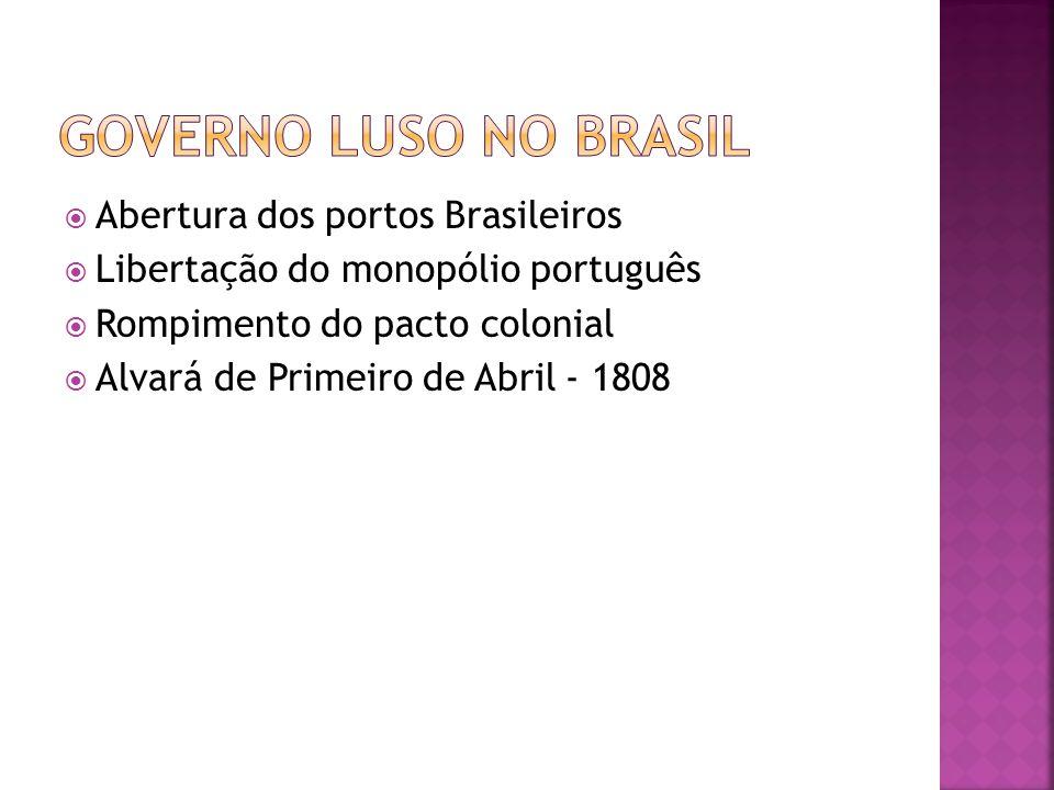  Instalação da família real no Rio de Janeiro  Fundação do Banco do Brasil (1808)  Distribuição de títulos de nobreza