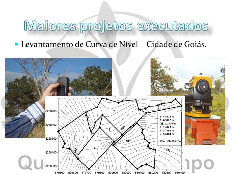 Levantamento de Curva de Nível – Cidade de Goiás.