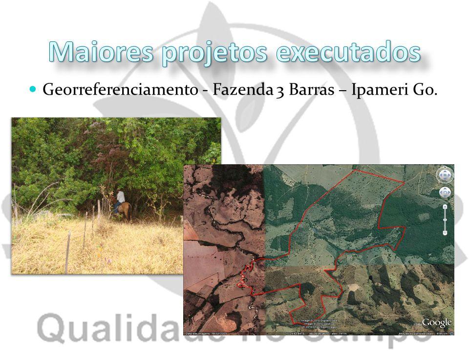 Georreferenciamento - Fazenda 3 Barras – Ipameri Go.
