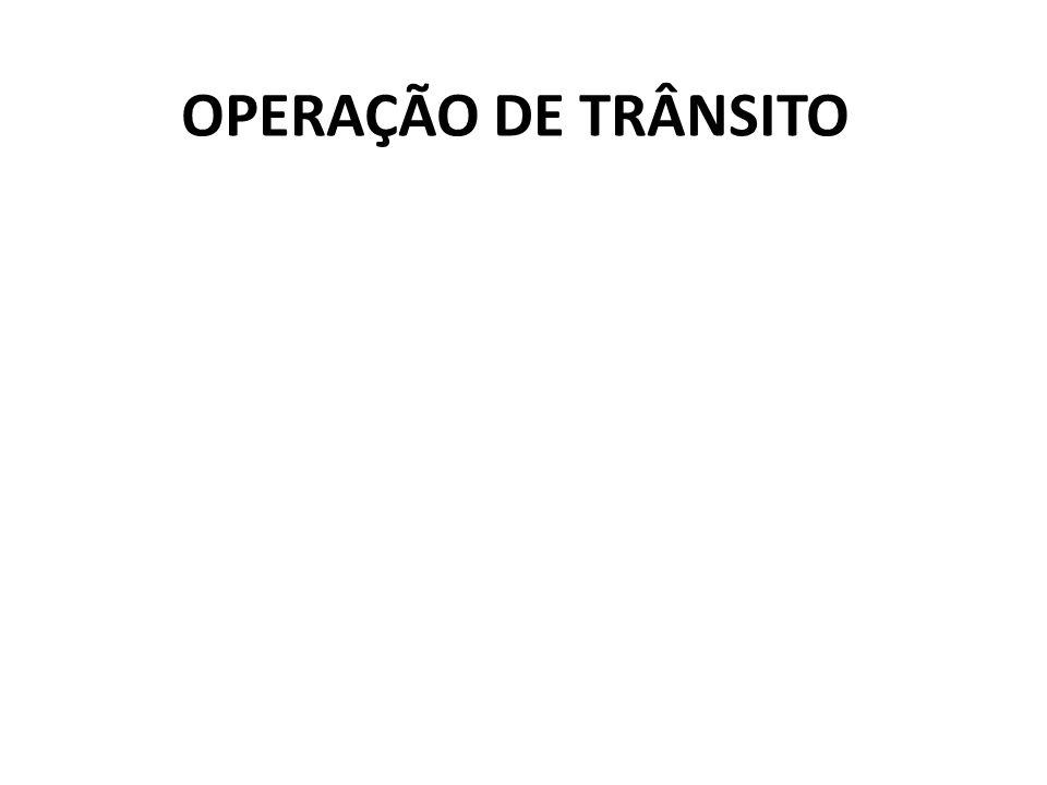 Aspectos gerais da operação de trânsito; - Estrutura; - Operações rotineiras; - Operações programadas; - Operações emergenciais; - Questão relacionada: mobilidade