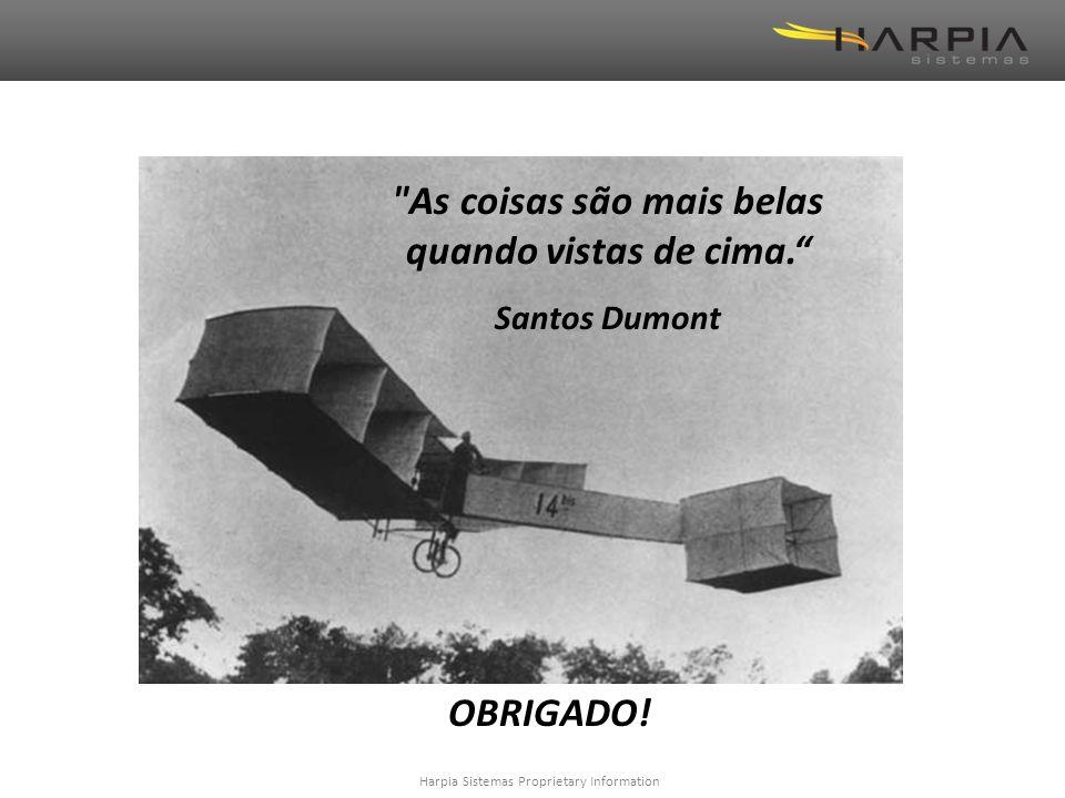 Harpia Sistemas Proprietary Information As coisas são mais belas quando vistas de cima. Santos Dumont OBRIGADO!