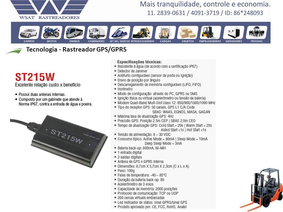 Tecnologia - Rastreador GPS/GPRS