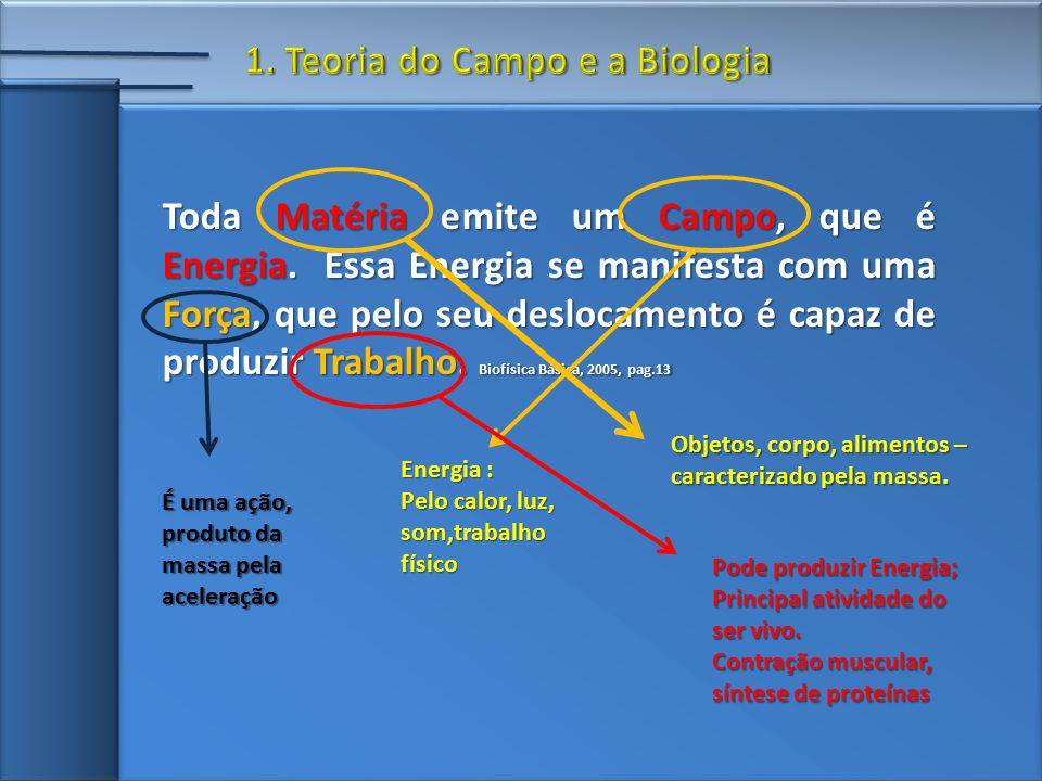 Toda Matéria emite um Campo, que é Energia.