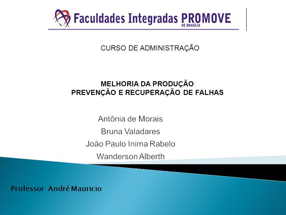 CURSO DE ADMINISTRAÇÃO MELHORIA DA PRODUÇÃO PREVENÇÃO E RECUPERAÇÃO DE FALHAS Professor: André Mauricio