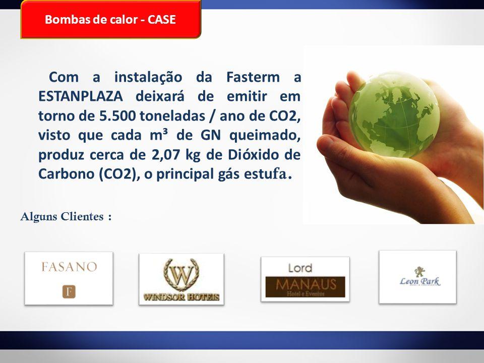Bombas de calor - CASE Com a instalação da Fasterm a ESTANPLAZA deixará de emitir em torno de 5.500 toneladas / ano de CO2, visto que cada m³ de GN qu