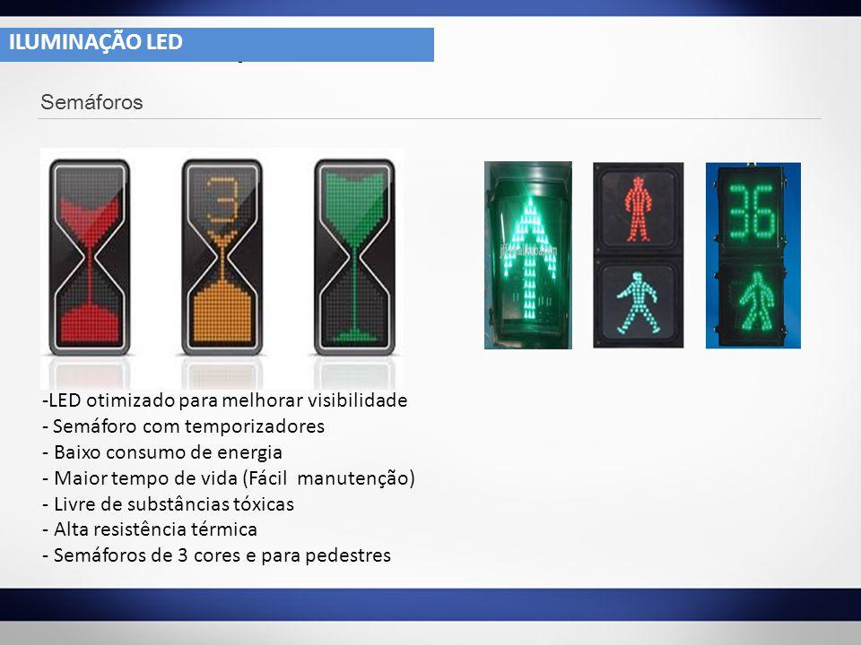 -LED otimizado para melhorar visibilidade - Semáforo com temporizadores - Baixo consumo de energia - Maior tempo de vida (Fácil manutenção) - Livre de