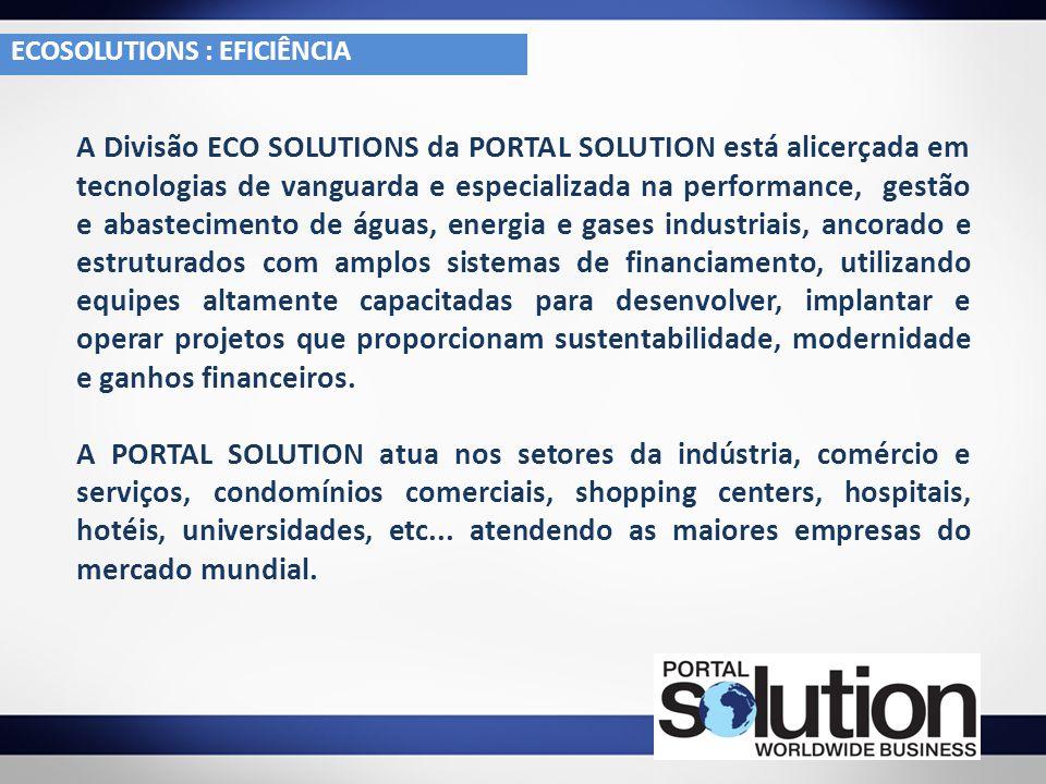 A Divisão ECO SOLUTIONS da PORTAL SOLUTION está alicerçada em tecnologias de vanguarda e especializada na performance, gestão e abastecimento de águas
