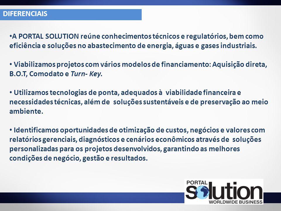 A PORTAL SOLUTION reúne conhecimentos técnicos e regulatórios, bem como eficiência e soluções no abastecimento de energia, águas e gases industriais.