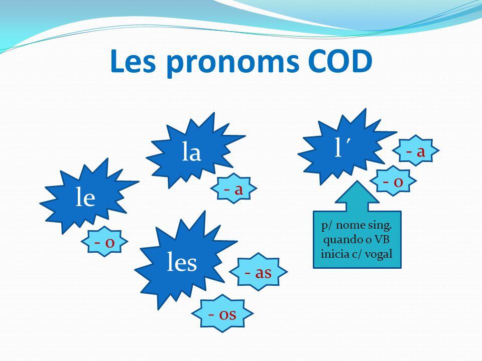 84 e leçon jeudi 12 mai 2013 SOMMAIRE Les pronoms COD (3 ème personne) et son emploi – règles. Des exercices d' applica- tion; correction. Consolidati