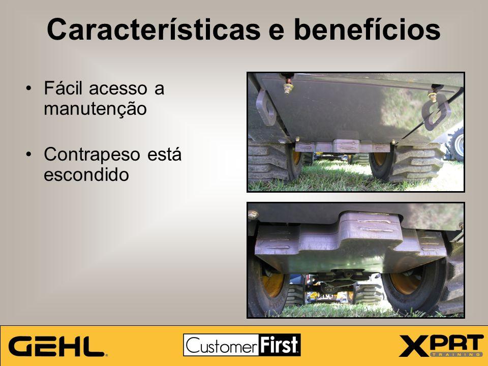 Características e benefícios Fácil acesso a manutenção Contrapeso está escondido