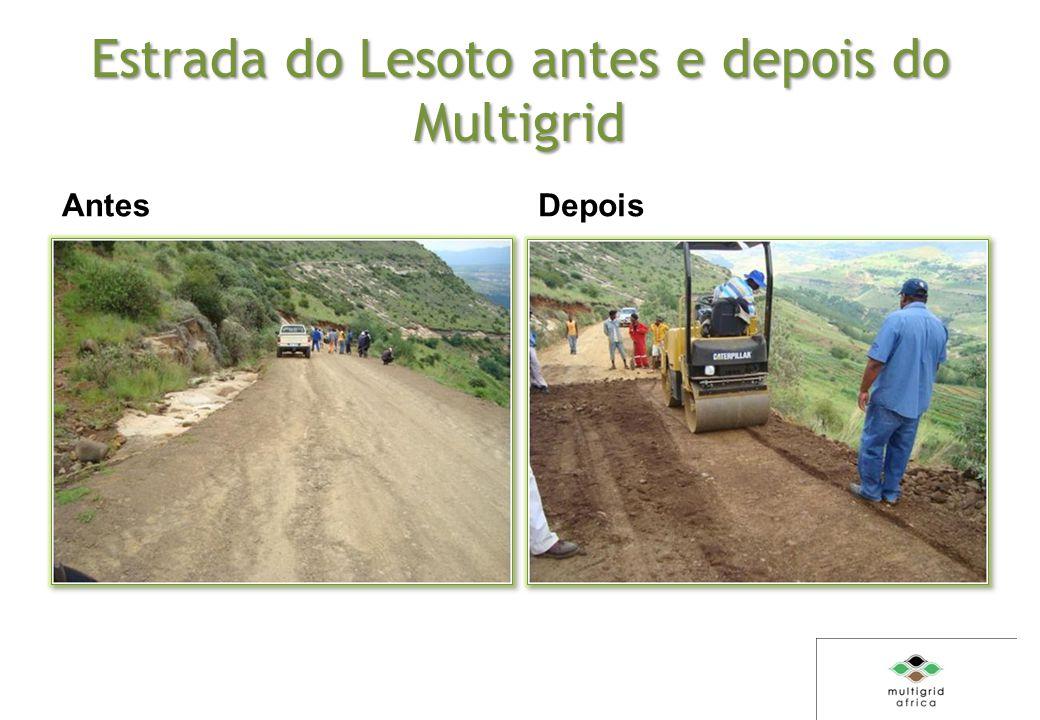 Estrada do Lesoto antes e depois do Multigrid Antes Depois