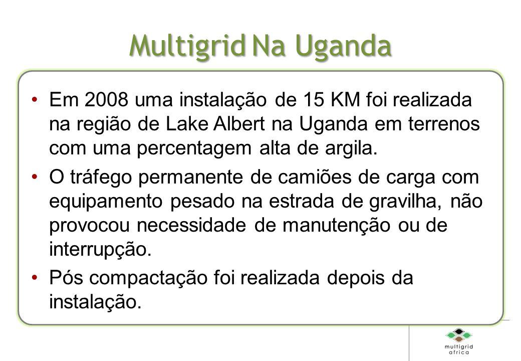 Multigrid Na Uganda Em 2008 uma instalação de 15 KM foi realizada na região de Lake Albert na Uganda em terrenos com uma percentagem alta de argila.
