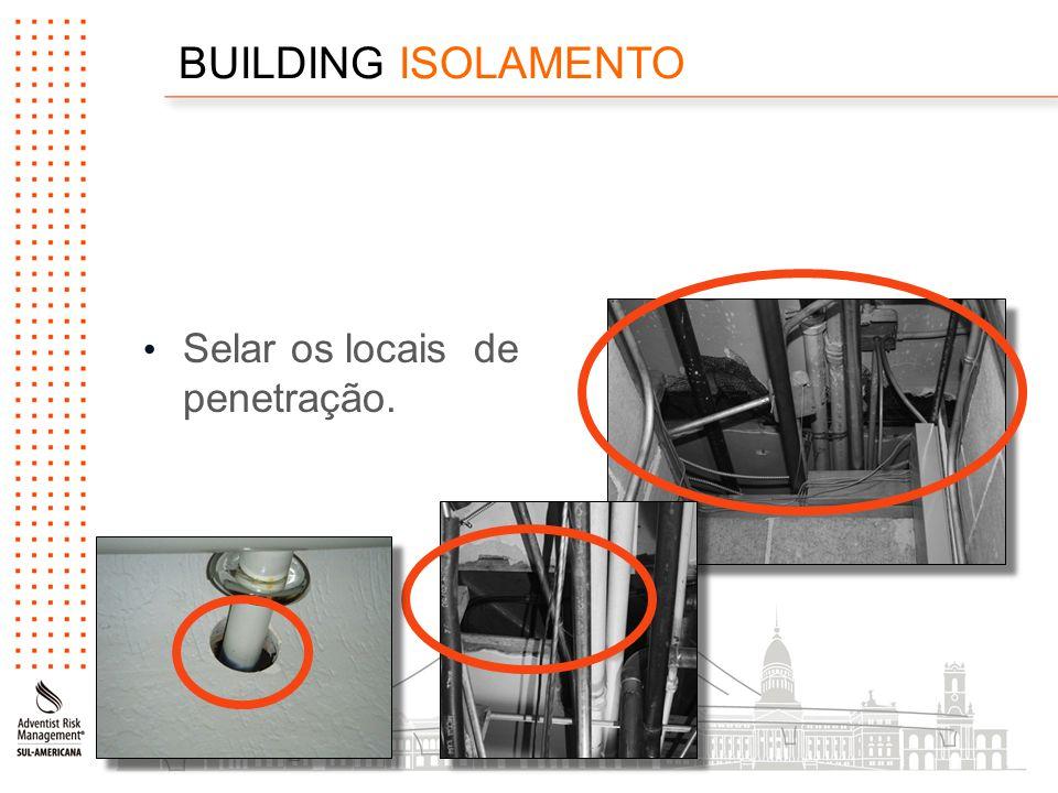 BUILDING ISOLAMENTO Selar os locais de penetração.