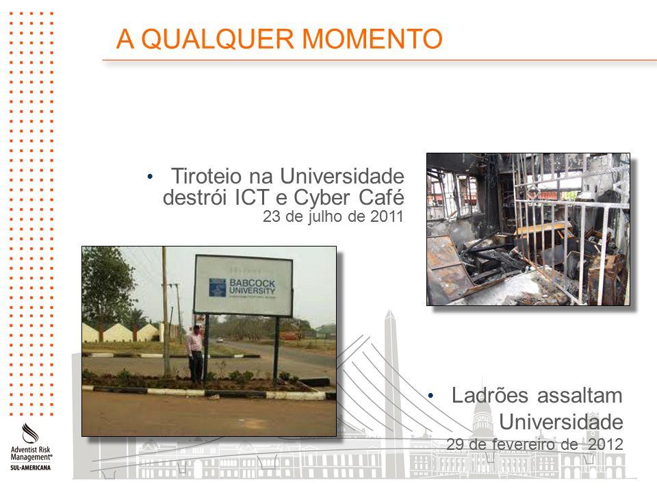 Tiroteio na Universidade destrói ICT e Cyber Café 23 de julho de 2011 Ladrões assaltam Universidade 29 de fevereiro de 2012 A QUALQUER MOMENTO