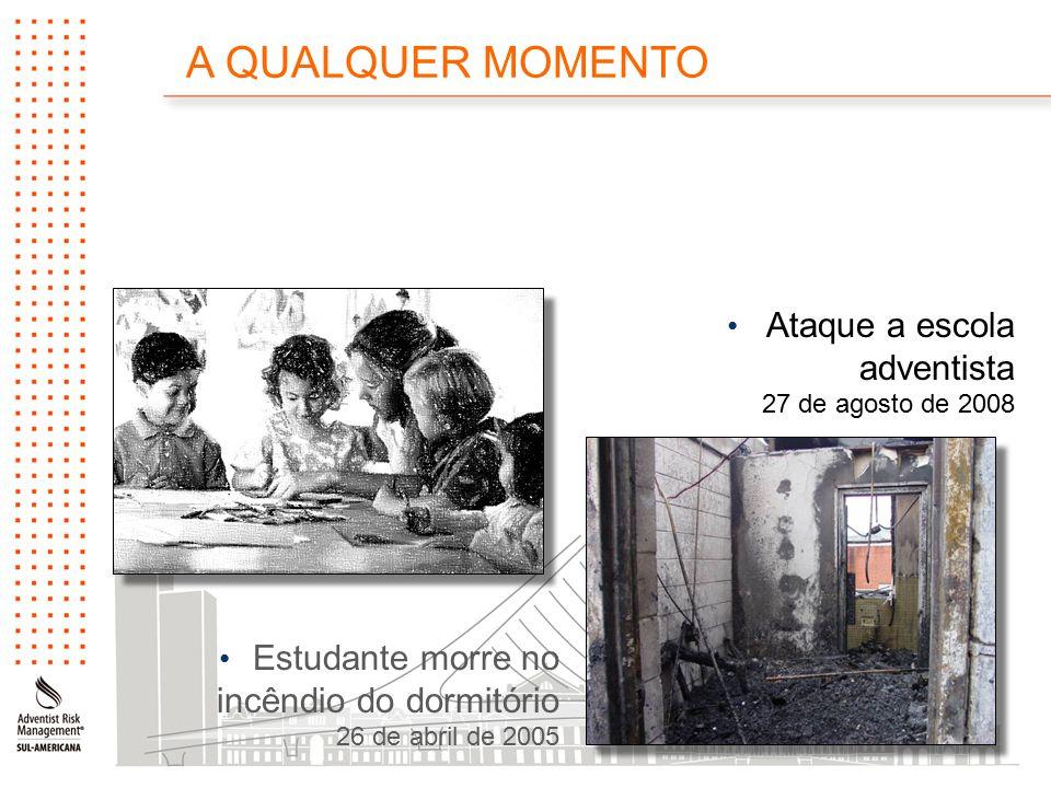Ataque a escola adventista 27 de agosto de 2008 Estudante morre no incêndio do dormitório 26 de abril de 2005 A QUALQUER MOMENTO