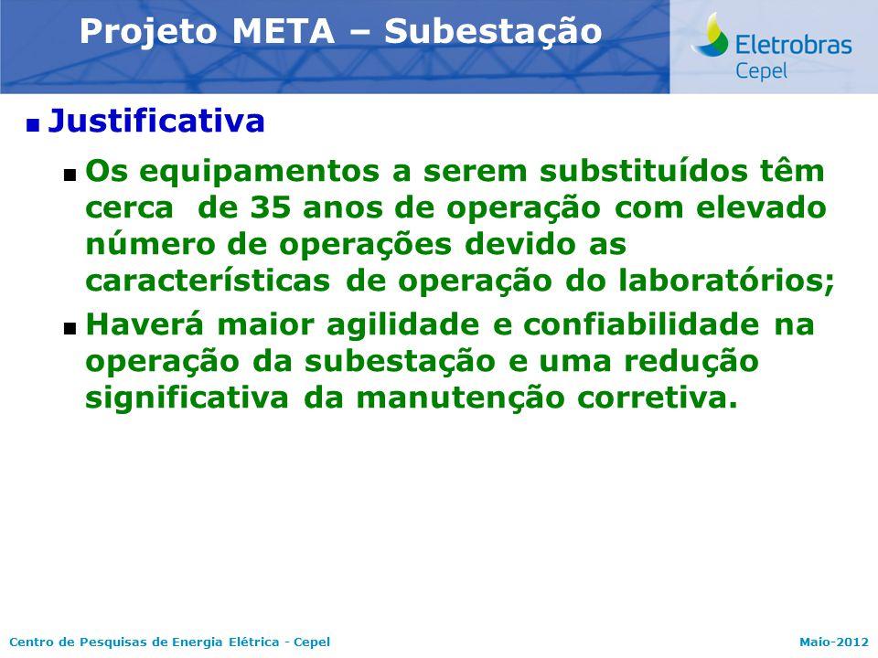 Centro de Pesquisas de Energia Elétrica - CepelMaio-2012 Modelo NEWAVE  Justificativa  Os equipamentos a serem substituídos têm cerca de 35 anos de