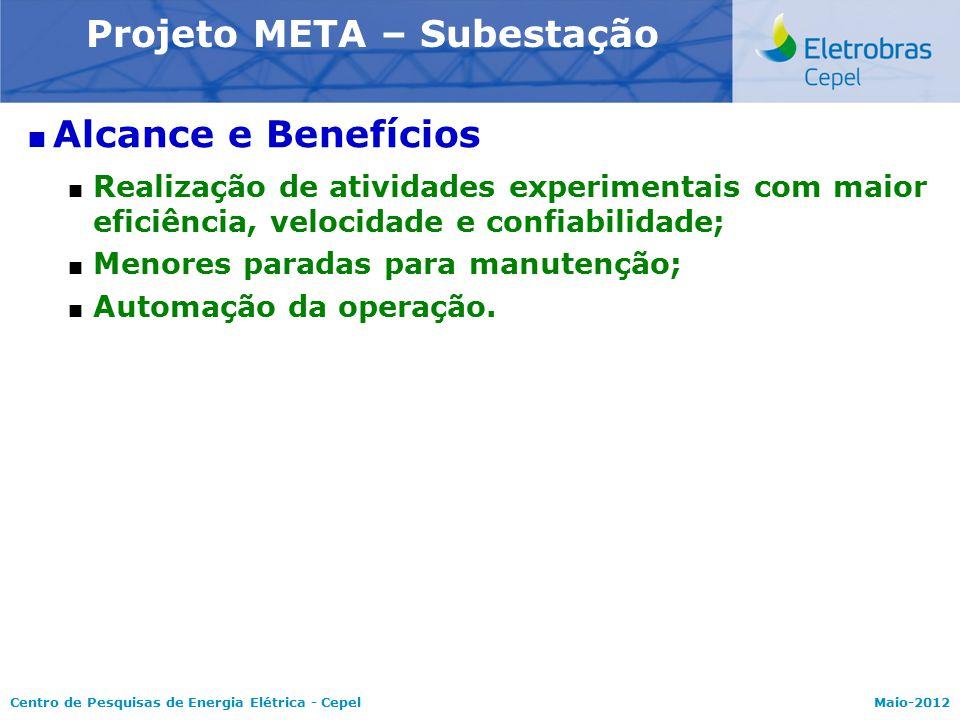 Centro de Pesquisas de Energia Elétrica - CepelMaio-2012  Alcance e Benefícios  Realização de atividades experimentais com maior eficiência, velocid